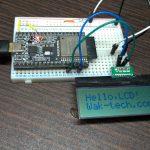 ESP32でI2C接続のLCD「AQM1602A」を使う