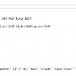 ESP32でAPIを使って現在の天気を取得してみた