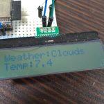 ESP32でOpenWeatherMapのAPIを使って現在の天気をLCD「AQM1602A」に表示させる